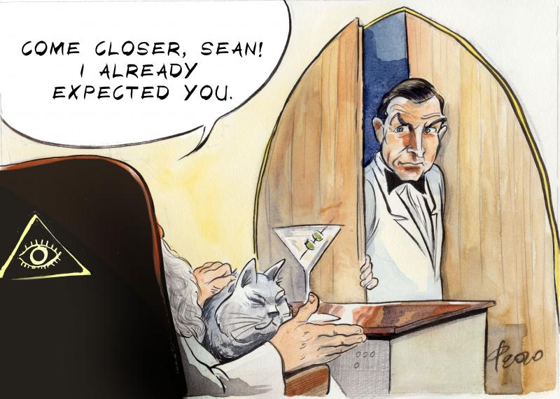 Cartoon about Sean Connery