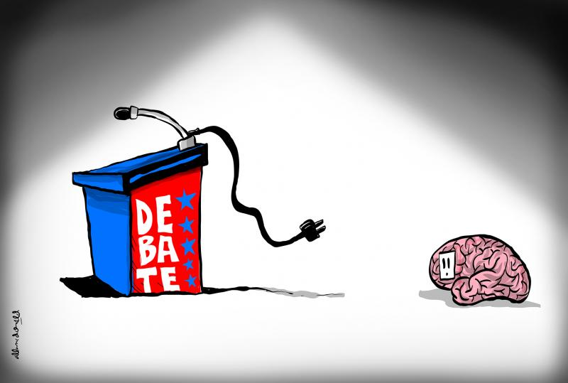Cartoon about presidential elections in the United States