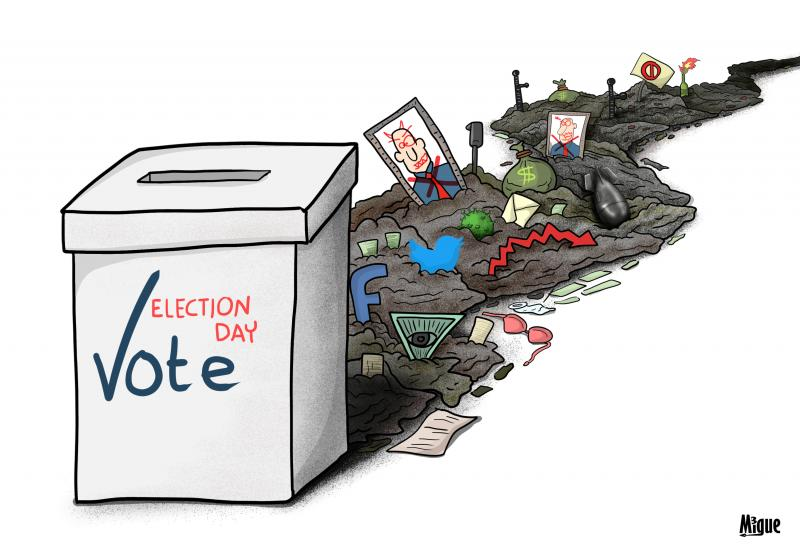 Cartoon about elections