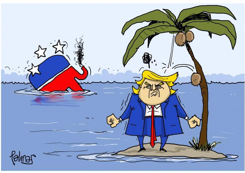 Trump naufrago