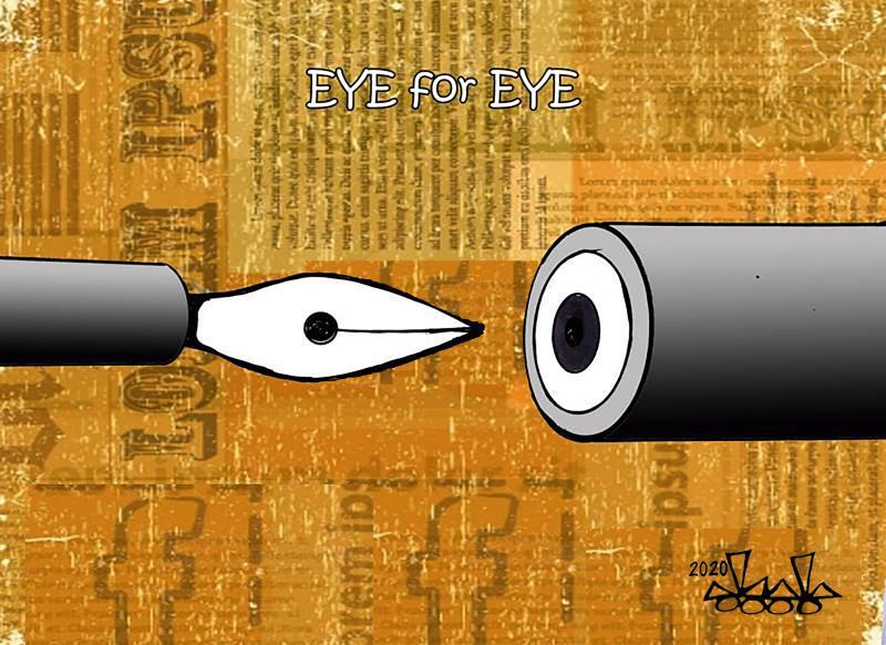 pen vs  gun...