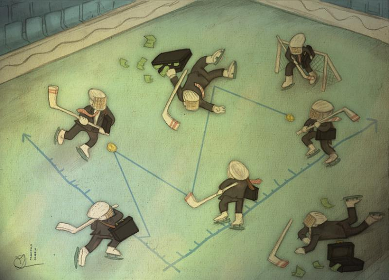Brokers playing hockey on  Statistics