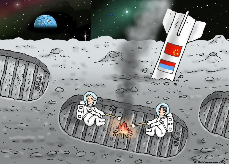 PUTIN AND XI JINPING ON THE MOON