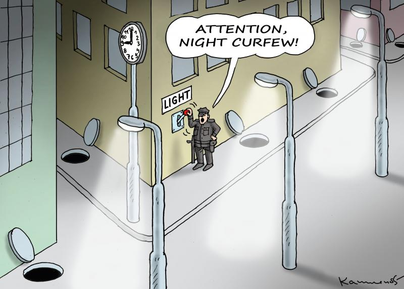 Attention, night curfew!