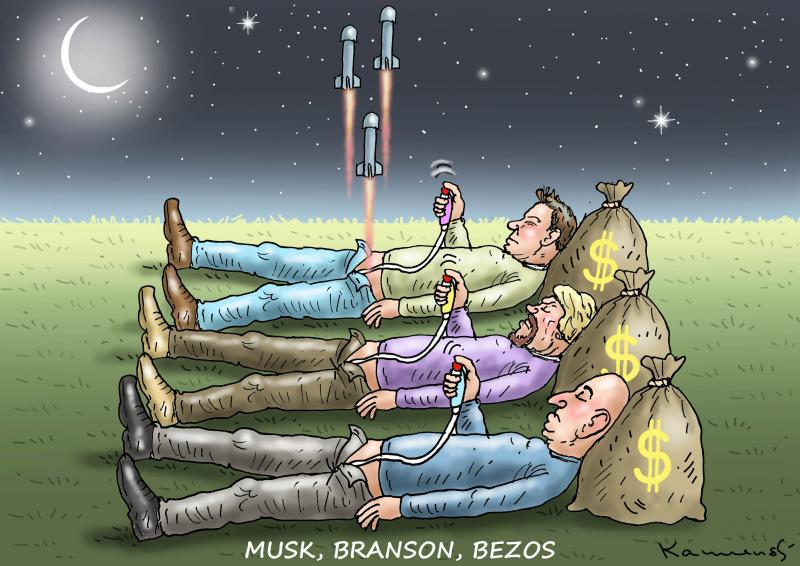 MUSK, BRANSON, BEZOS