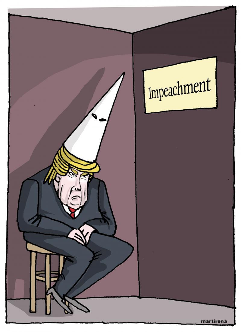 Trump alone and punishment
