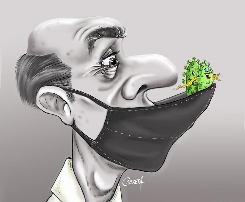 Trasmisión del virus por mal uso de la mascarilla