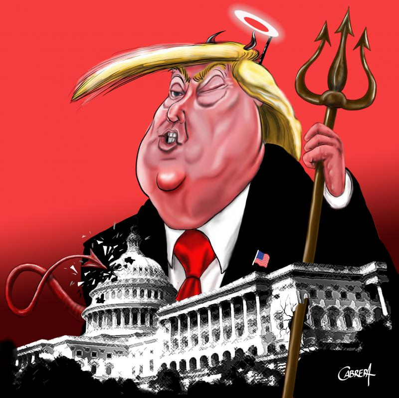 Trump aparece como inocente a la agresión del capitolio