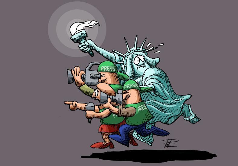 freedom in journalism develops in difficult, always threatening circumstances