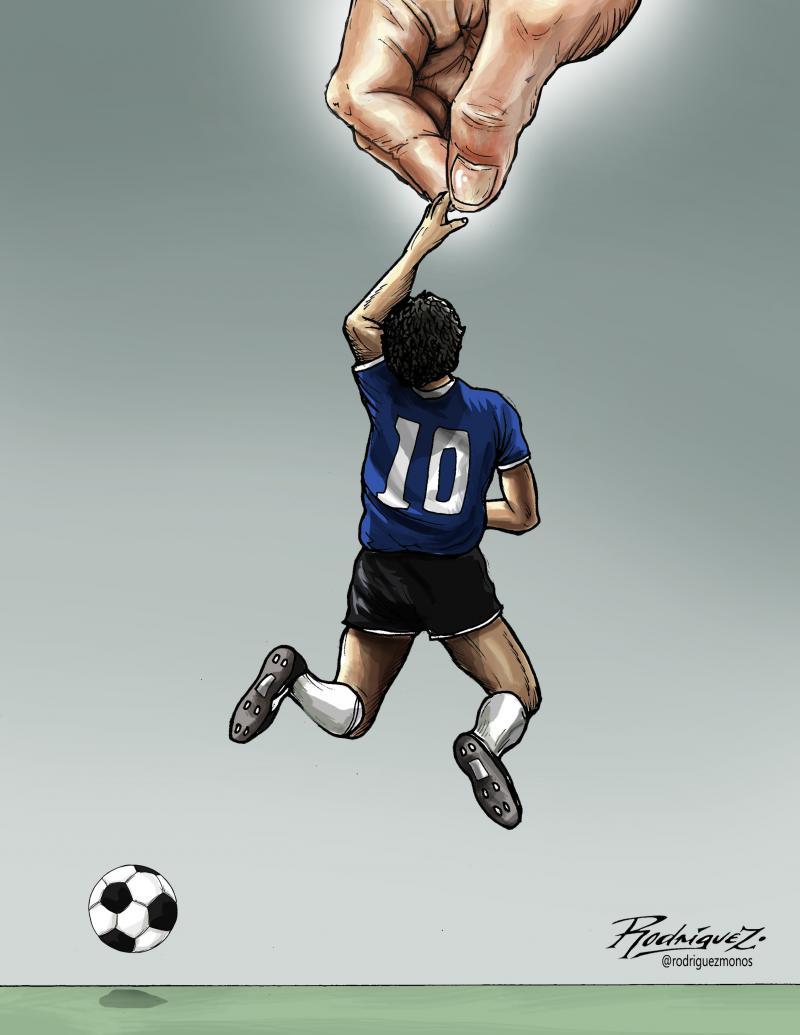 Cartoon about Maradona