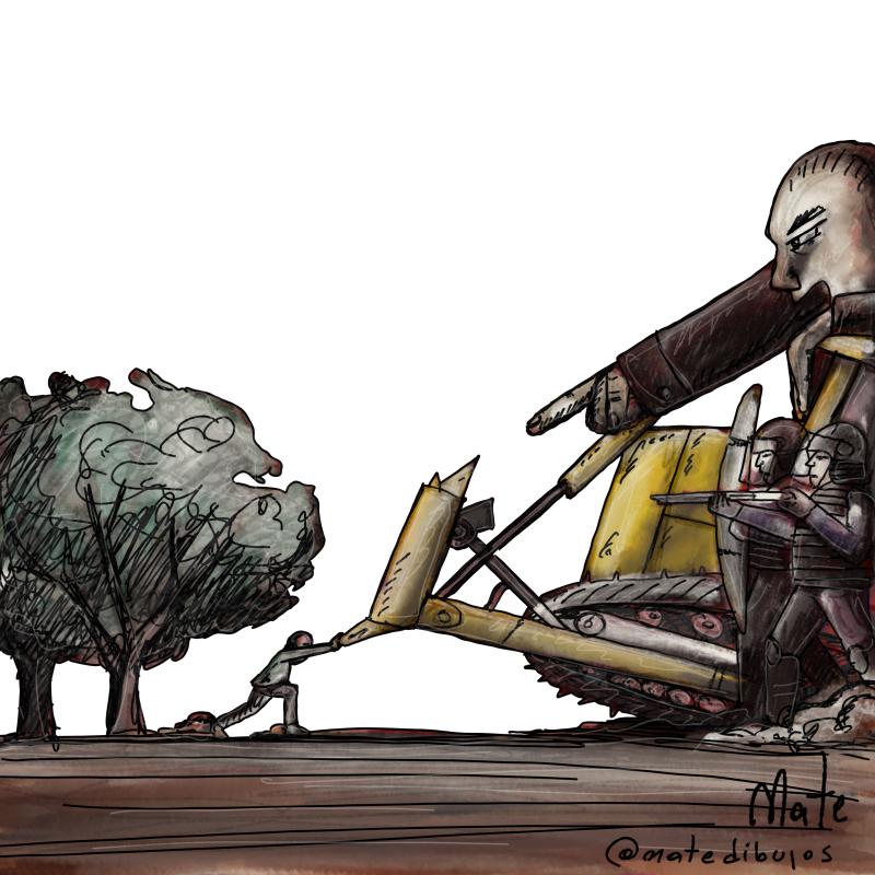 Cartoon about environmental activists