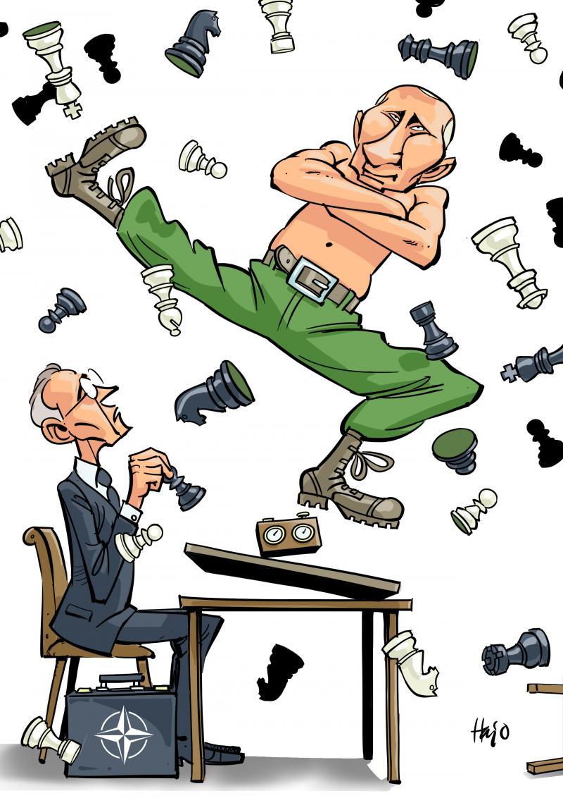 Cartoon about Putin and Ukraine