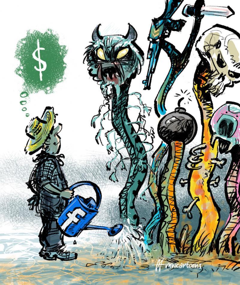 Cartoon about Facebook