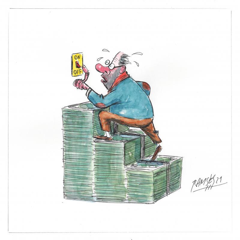 Cartoon abut rising energy costs