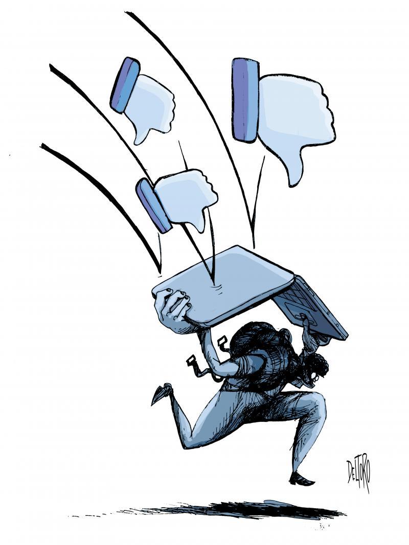 Negatividad en las redes sociales