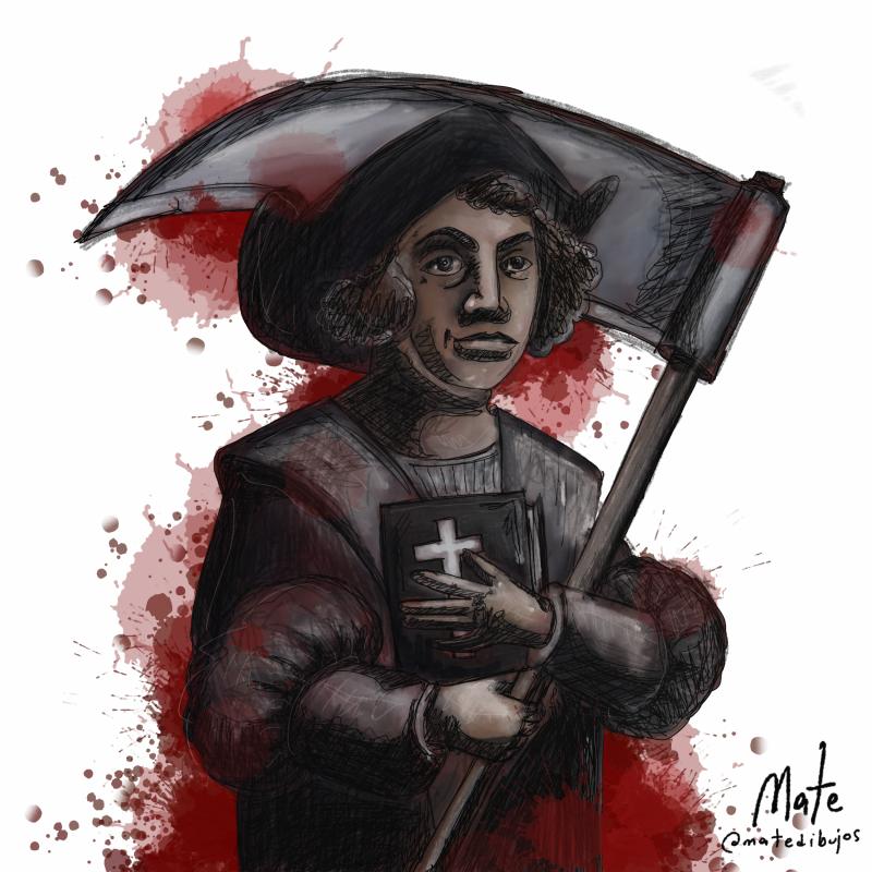 October 12 - Arrival of Cristobal Colón in America
