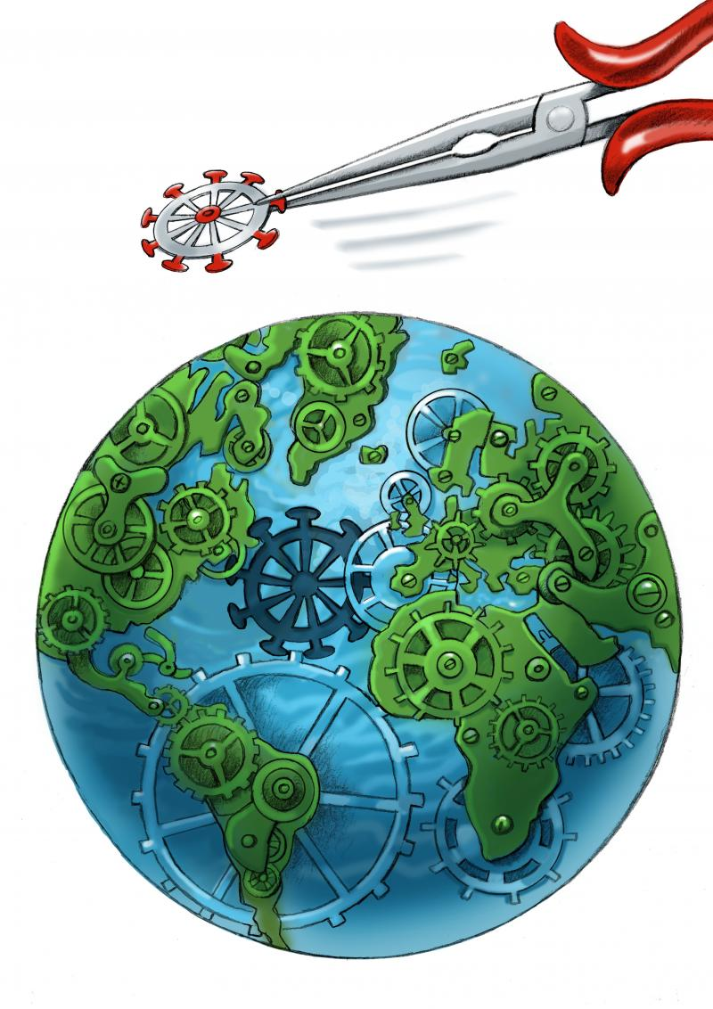 globalism urgent need to cooperate together to remove covid by following rules very strictly