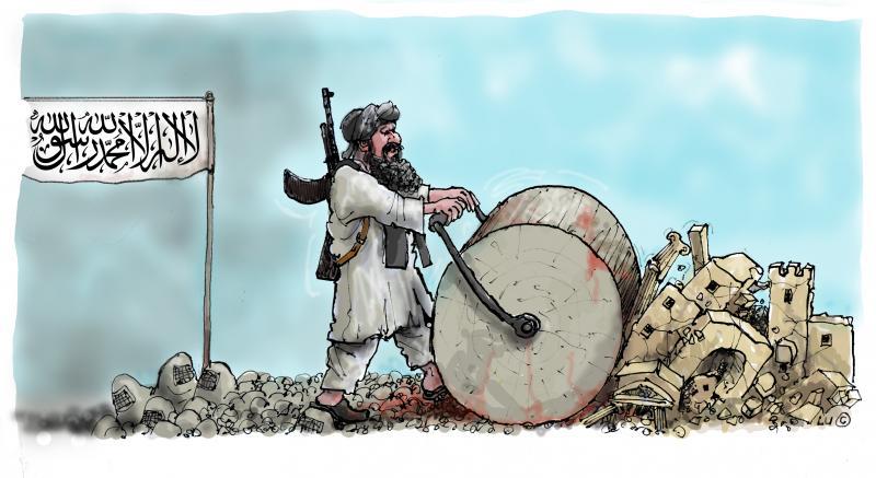 taliban destroy historic site