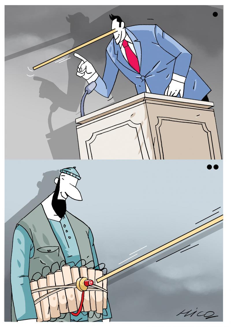Terror and politician