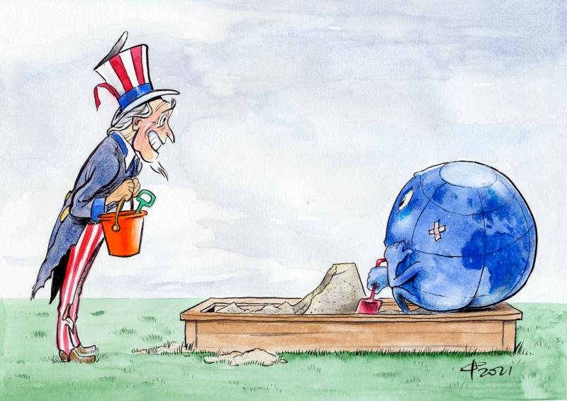 Cartoon about America under Biden