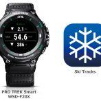 [SmartWatch] WSD-F20X и приложение Ski Tracks для лыжников и бордеров