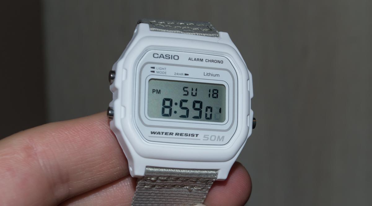 [Обзор Casio] W-59B-7AVEF — часы для детей или винтаж для девушек