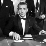 sean connery as james bond playing baccarat in dr no
