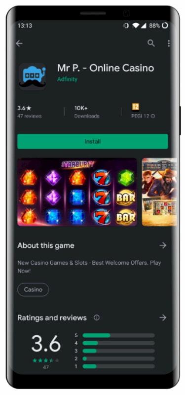 Casinoapper på mobil