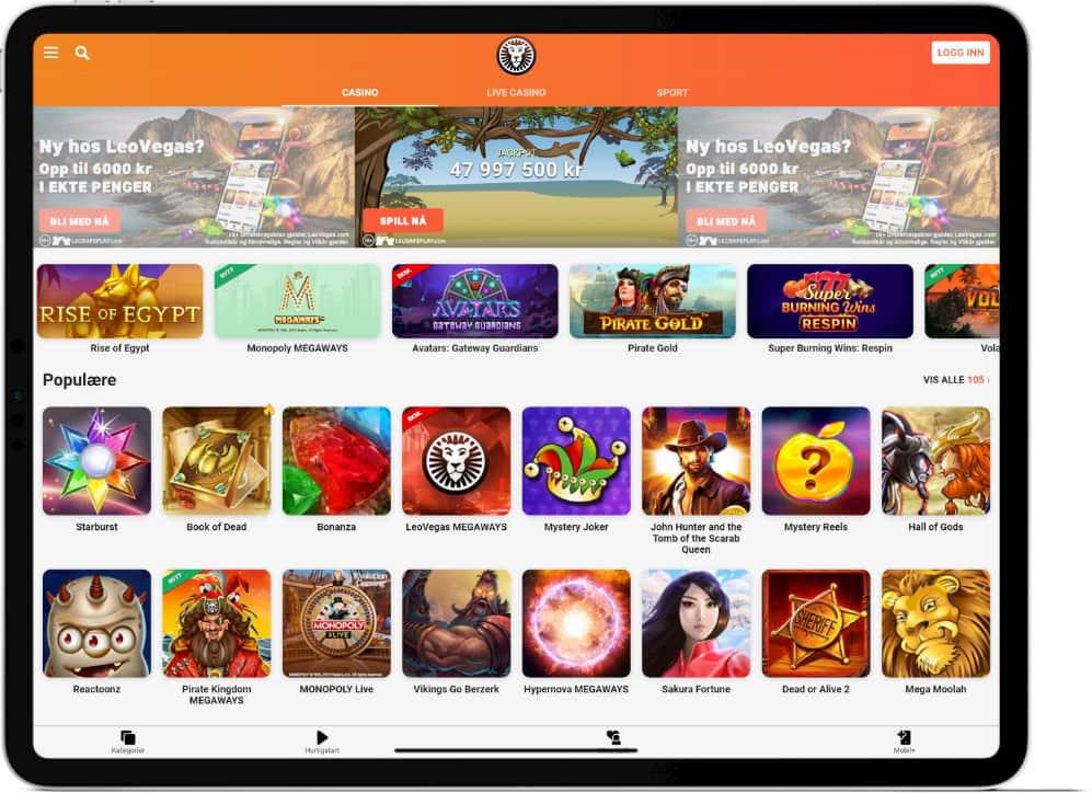 Casino på iPad