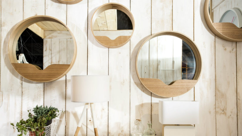 designové kulaté zrcadlo