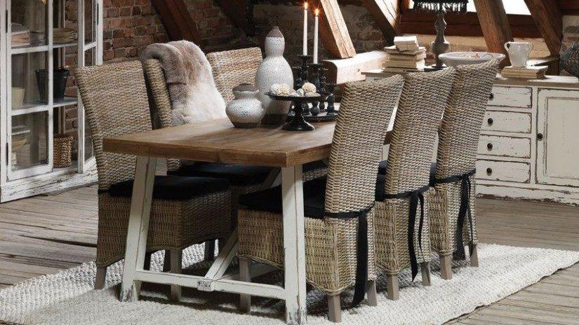 ratanový nábytek - jídelní židle