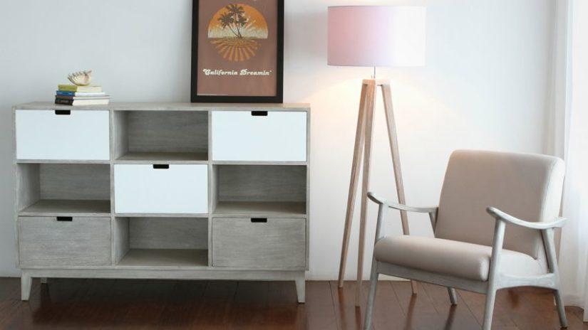 šedý skandinávský nábytek