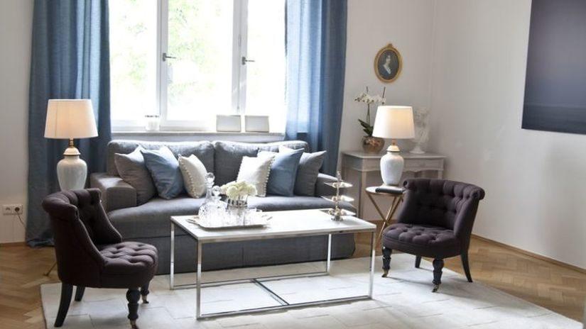 petrolejové záclony ve skandinávském stylu