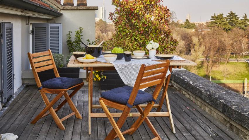 Balkónové skládací stoly