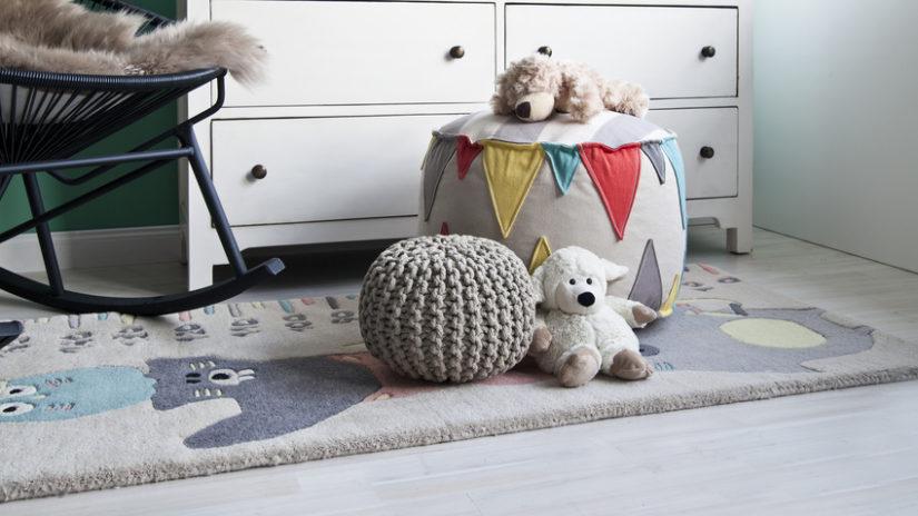 dětský koberec se zvířaty