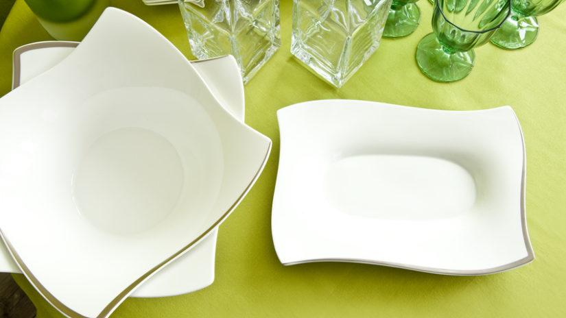 moderní oválný těstovinový talíř