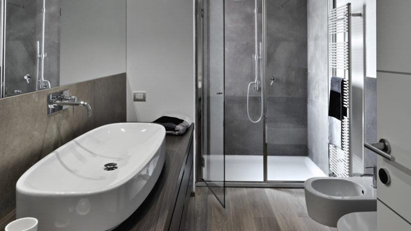 stylová koupelna - sprchový závěs