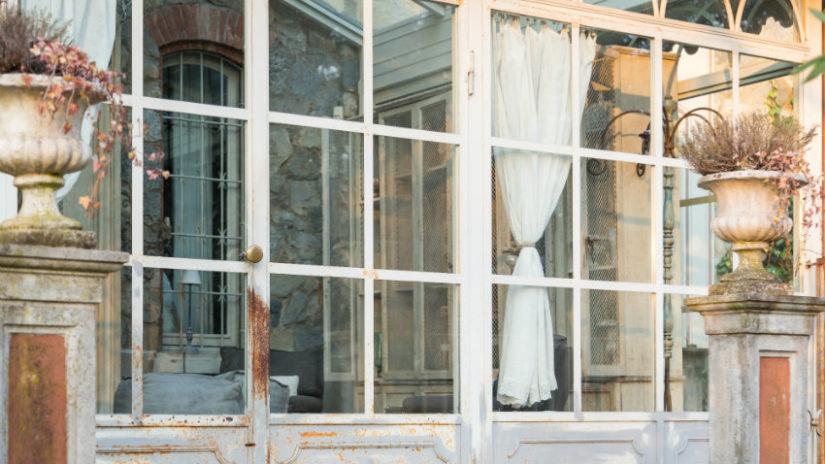 luxusní záclony na dveře