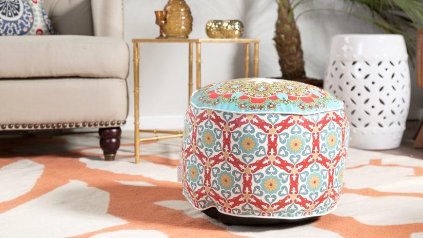 indický nábytek - puf