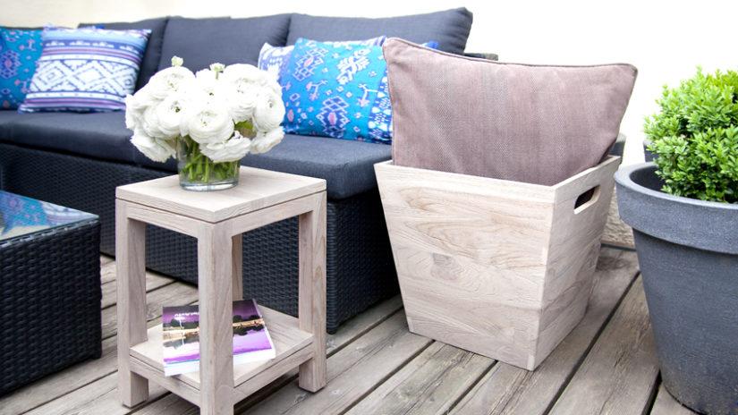 ratanový lounge zahradní nábytek
