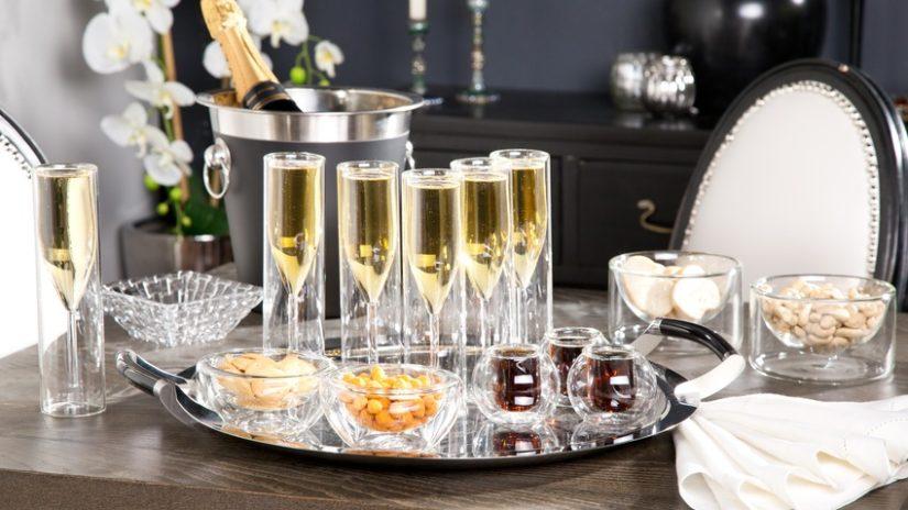 stylové sklenice na šampaňské