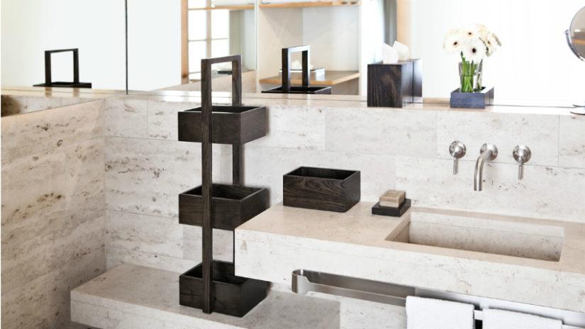 elegantní koupelnové police
