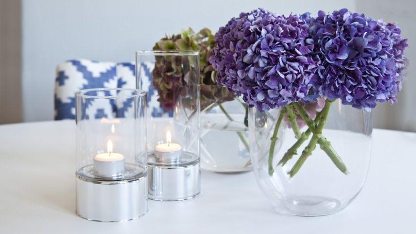 stylová sklenice na svíčku