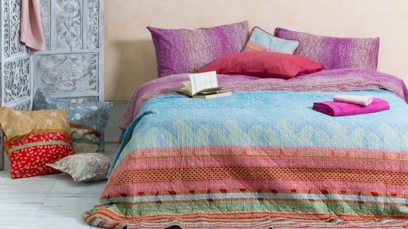barevná postel 140 x 220