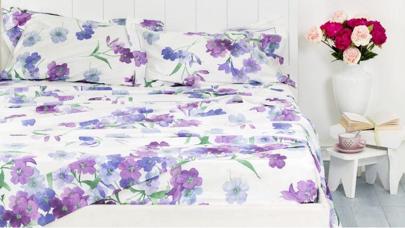 postel 150 x 200 - květované povlečení