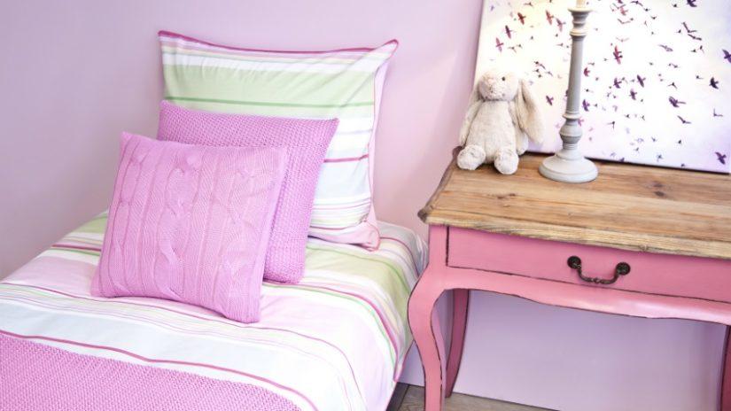 růžová postel 80 x 190