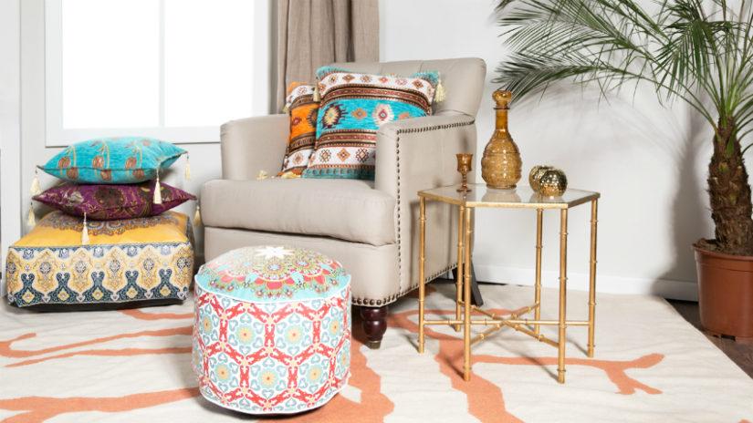 koloniální nábytek - kožené křeslo