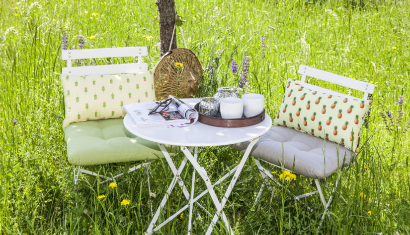skládací hliníková zahradní židle