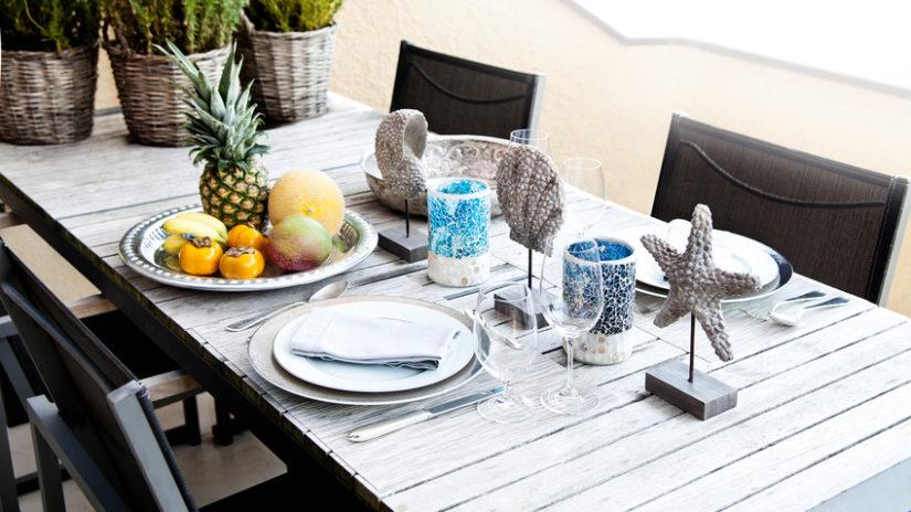hliníková zahradní židle a stůl