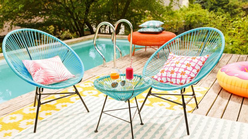 modrý Designový zahradní nábytek